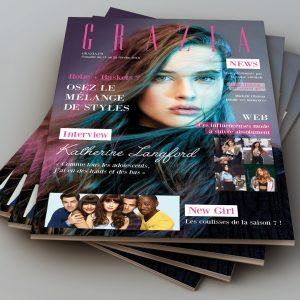 Mockup Couverture réalisée avec les codes du magazine Grazia