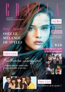 Couverture réalisée avec les codes du magazine Grazia