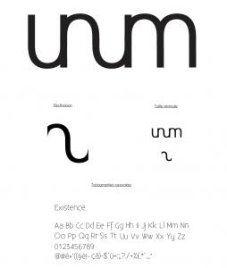 Charte graphique du logo de la librairie Unum