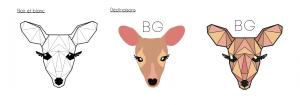Déclinaisons du logo Biche Graphique