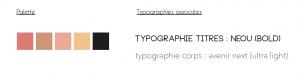 Couleurs et typographie Biche Graphique